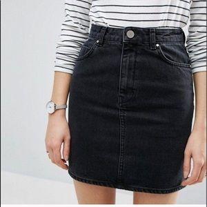 BDG high waisted black denim skirt